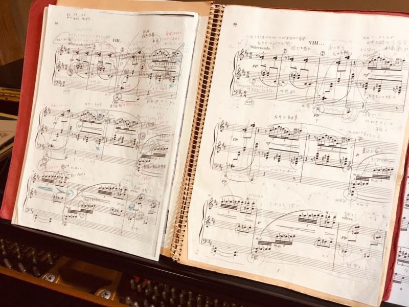 ドビュッシー「水の精」の楽譜